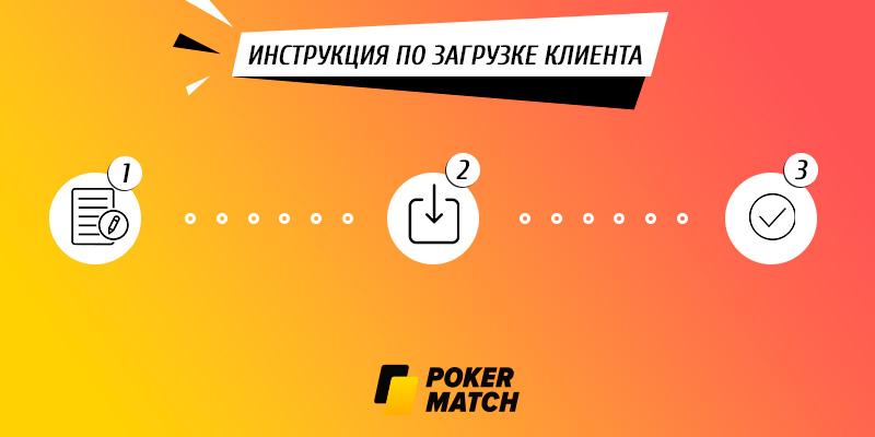 Инструкция по загрузке клиента Покерматч на ПК.