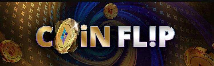 На partypoker можно выигрывать моментальные призы Coin Flip до $500