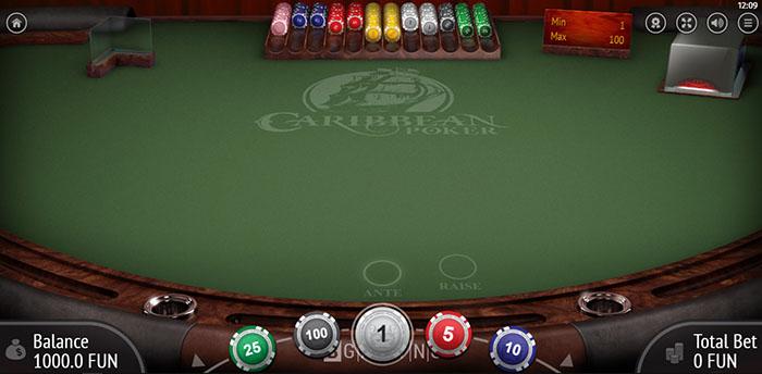 Poker Caribbean визуальное оформление