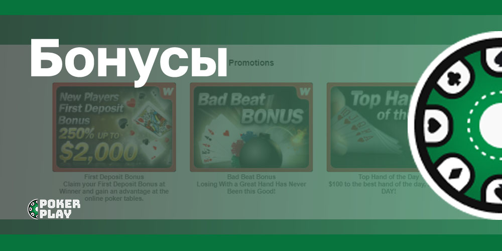 Winner Poker бонусы